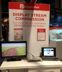 Lossless video compression demo in Hardent DisplayPort Booth at CES 2015